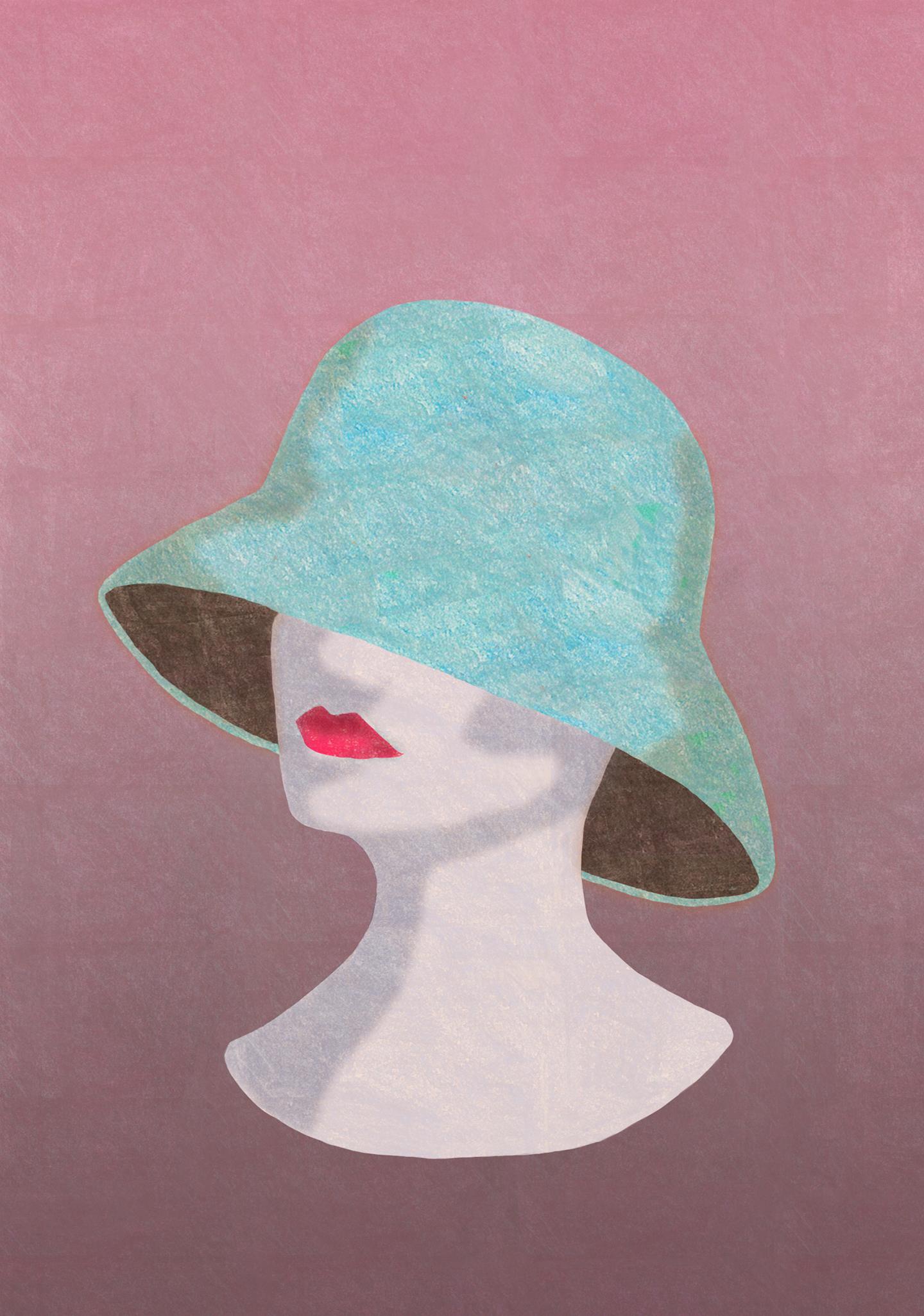 dame med hatt