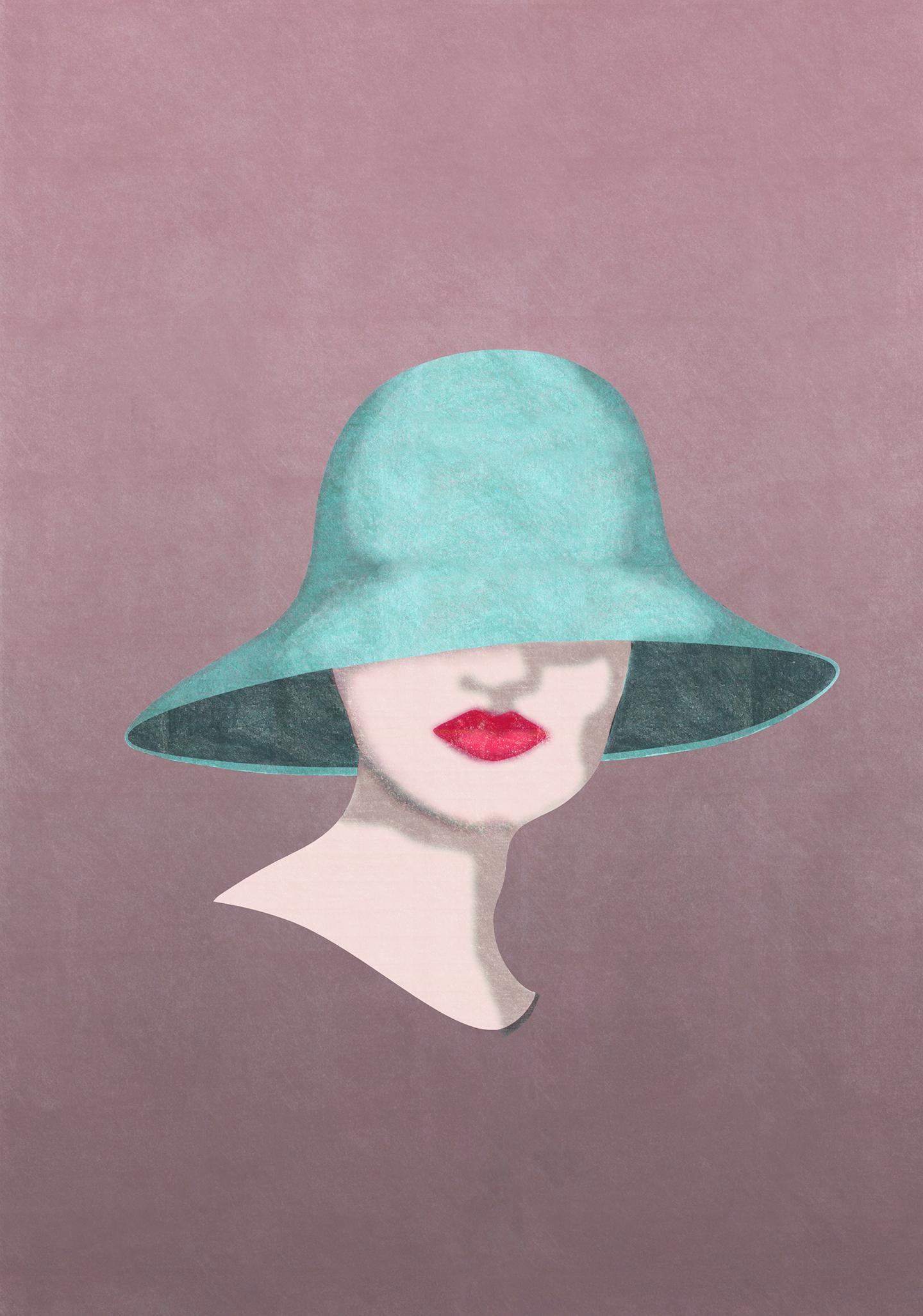 dame med hatt 2